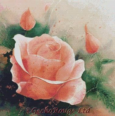An English Rose By David Finney Cross Stitch Kit