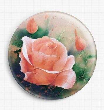 An English Rose By David Finney Licensed Art Needle Minder