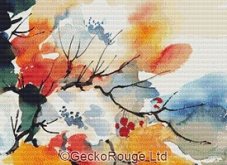 Autumn Rose By Anne Muller Cross Stitch Kit