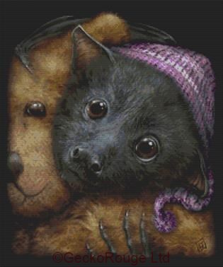 Baby Bats Bedtime By SheBlackDragon Cross Stitch Kit