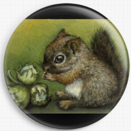 Baby Squirrel By Tanya Bond Licensed Art Needle Minder