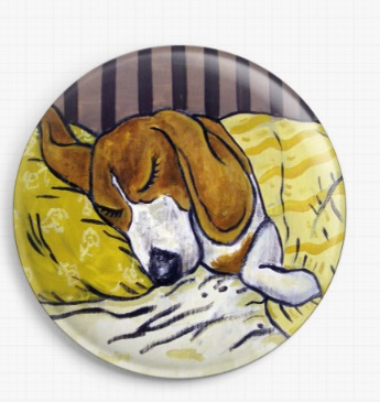 Beagle Sleeping By Jay Schmetz Licensed Art Needle Minder