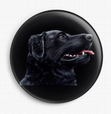 Black Labrador by Irina Garmashova-Cawton Licensed Art Needle Minder