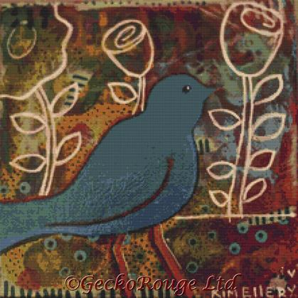 Blue Bird By Kim Ellery Cross Stitch Kit