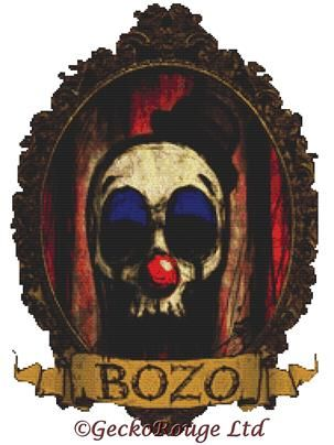Bozo By Shayne Of The Dead Cross Stitch Kit