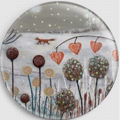 Caught in the Snow By Jo Grundy Needle Minder - 2 Fox