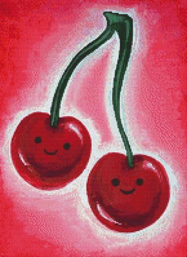 Cherries By Megan Mars Cross Stitch Kit