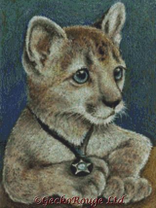 Corky The Cougar By Tanya Bond Cross Stitch Kit