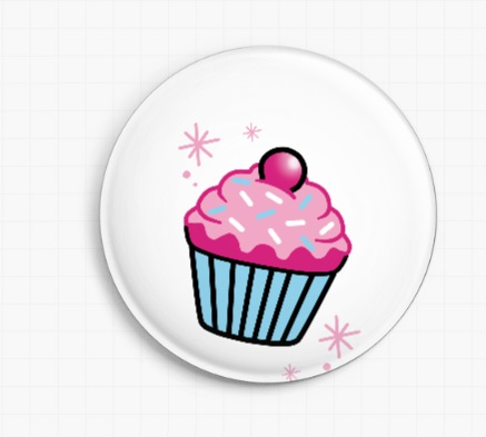 Cupcake By Miss Cherry Martini Licensed Art Needle Minder