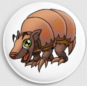 Digger Armadillo Swirlies Worlld Needle Minder