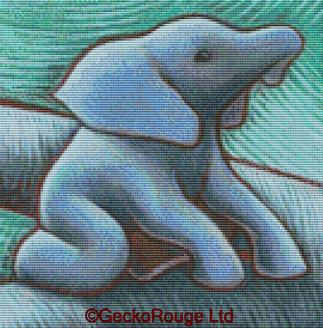 Elephant By Eya Claire Floyd Cross Stitch kit