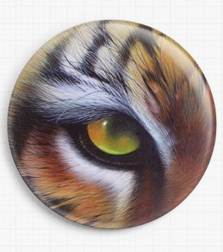 Eye Of The Tiger By David Finney Licensed Art Needle Minder