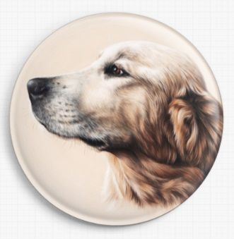 Golden Labrador by Irina Garmashova-Cawton Licensed Art Needle Minder