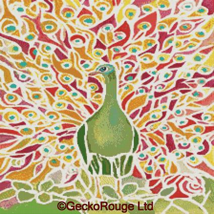 Grove Peacock by rosie brown By Rosie Brown Cross Stitch Kit