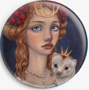 Lady With A Ferret By Tanya Bond Needle Minder