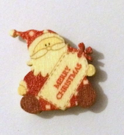Little Santa - Wooden Needle Minder (b)