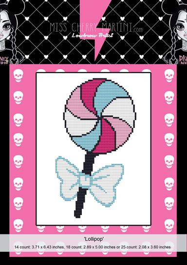 Lollipop By Miss Cherry Martini Cross Stitch Kit