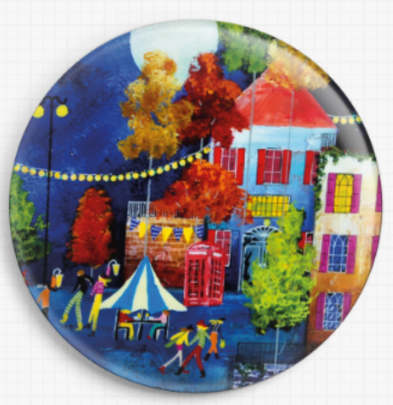 Moonlight Street By Rozanne Bell Licensed Art Needle Minder