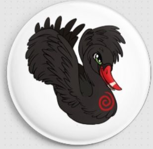 Odile Black Swan Swirlies Worlld Needle Minder