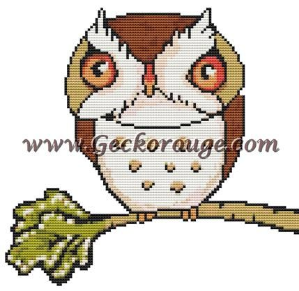 Owl Inchie 'Little Owl' By Anita Inverarity Cross Stitch Kit - Owl (AILOOWLI)
