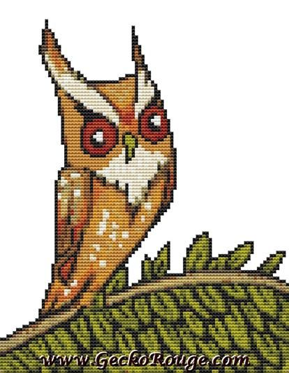 Owl Inchie 'Long Ears' By Anita Inverarity Cross Stitch Kit - Owl (AILGEOLI