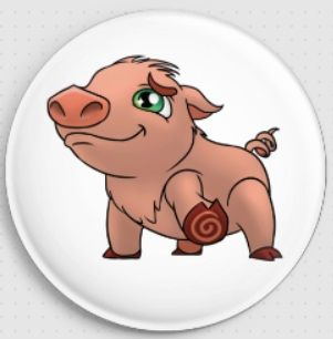 Pig 'Bella Swirlies Worlld Needle Minder