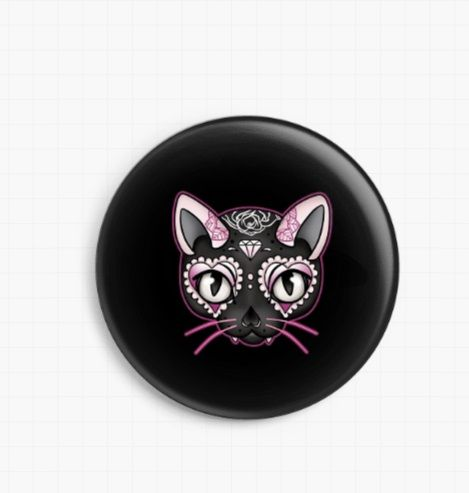 Pink Kitty By Miss Cherry Martini Licensed Art Needle Minder