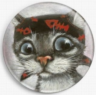 Pirate Cat By Tanya Bond Licensed Art Needle Minder