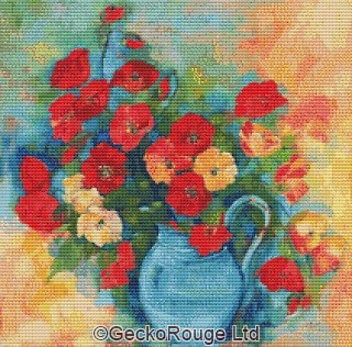 Poppies By Anne Muller Cross Stitch Kit