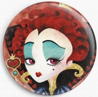 Queen of Hearts By Sandra Vargas Licensed Art Needle Minder