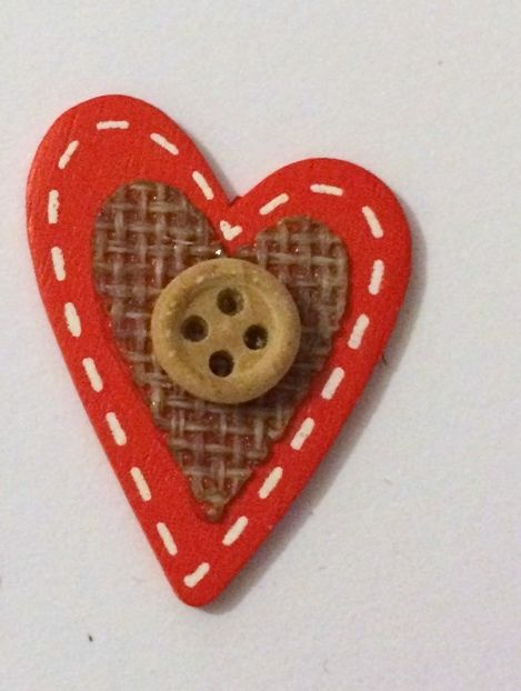 Red Heart - Wooden Needle Minder