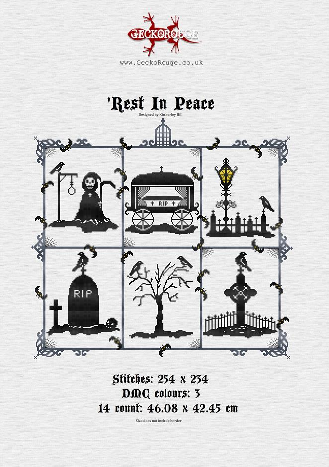 Rest In Peace PDF Chart Only - Gothic Cross Stitch Chart