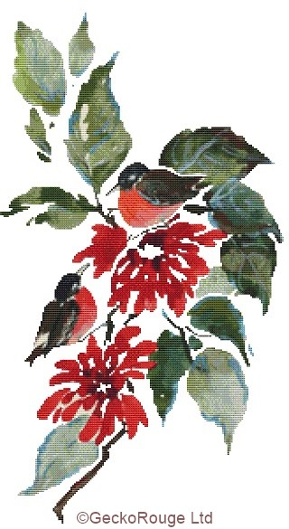 Robins By Anne Muller Cross Stitch Kit