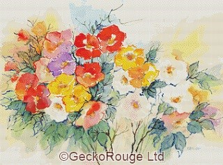 Spring Flowers By Anne Muller Cross Stitch Kit