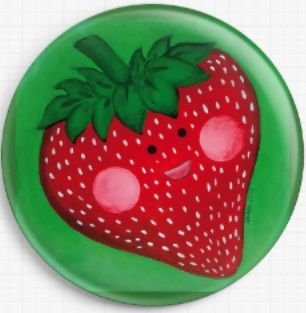 Strawberry By Megan Mars Licensed Art Needle Minder