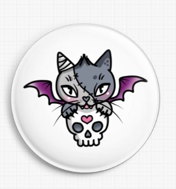 Vamp Kitty By Miss Cherry Martini Licensed Art Needle Minder