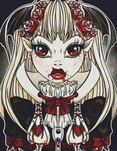 Vampire By Miss Cherry Martini Cross Stitch Kit