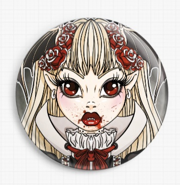 Vampire By Miss Cherry Martini Licensed Art Needle Minder