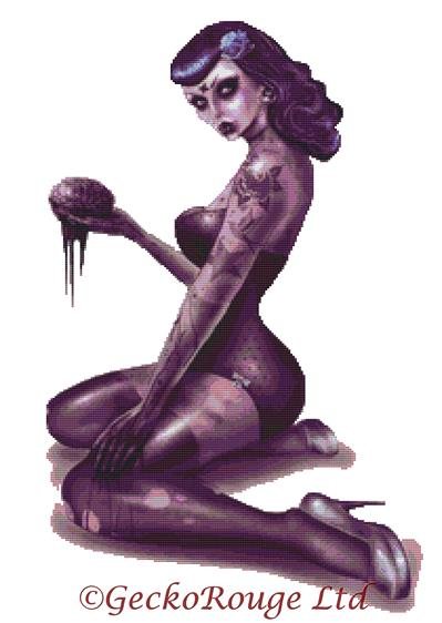Zombie Pin Up By Marcus Jones Cross Stitch Kit
