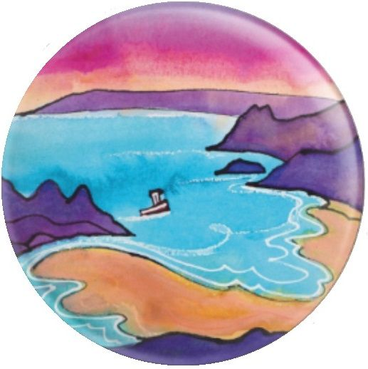 3 Cliffs bay, Gower By Dorian Davies Spencer Art Needle Minder