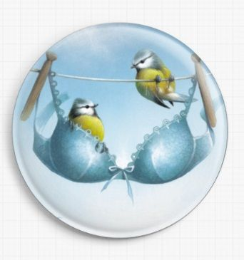 A Pair of Blue Tits By David Finney Licensed Art Needle Minder