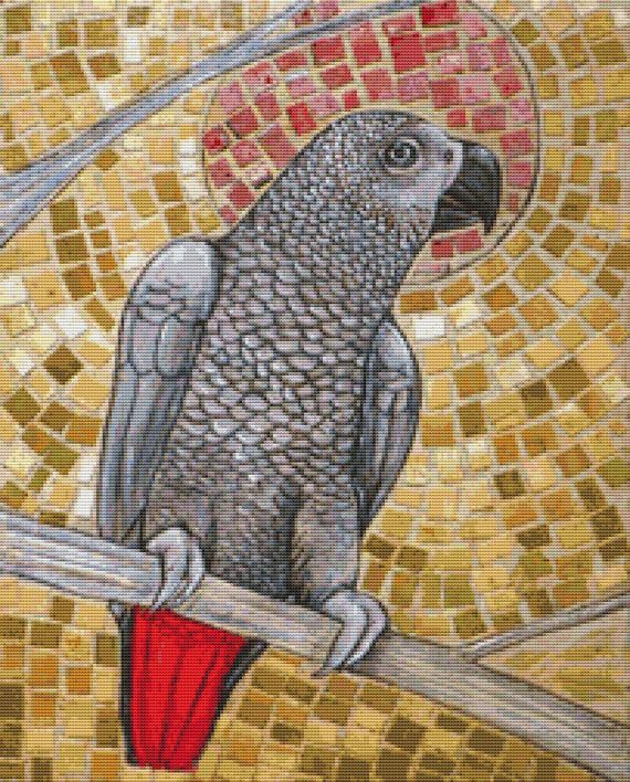 African Grey By Lynnette Shelley Cross Stitch Kit