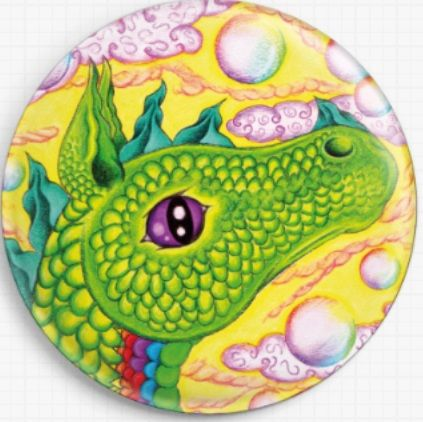 Air Dragon By Angel Kitten Art Licensed Art Needle Minder