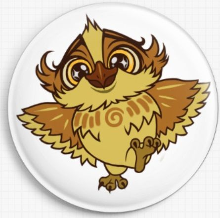 Alf Owl Swirlies Worlld Needle Minder