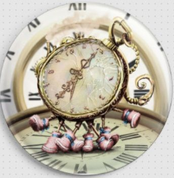 Alice Series - Watch By Omri Koresh Licensed Art Needle Minder