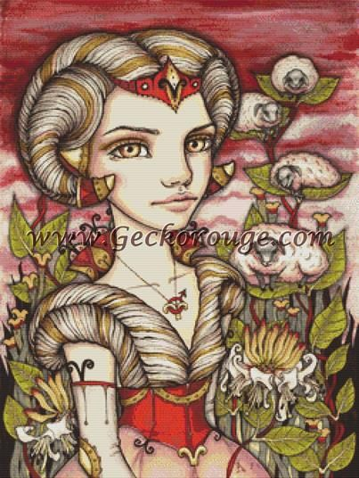 Aries By Tanya Bond Cross Stitch Kit (TBZODAEI) - Zodiac