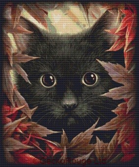 Autumn Cat By SheBlackDragon Cross Stitch Kit (SBDATMCT)