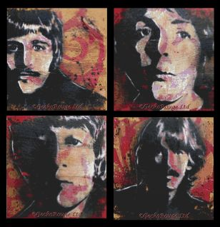Beatles By Sara Bowersock Cross Stitch Kit - Save