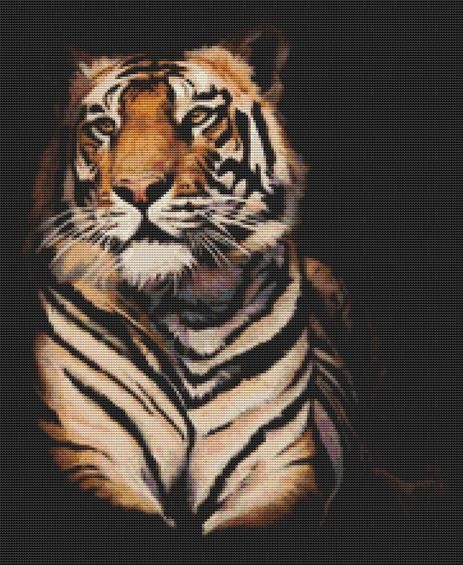 Beauty is in the eye of the tiger by April Rafko Cross Stitch Kit - Tiger