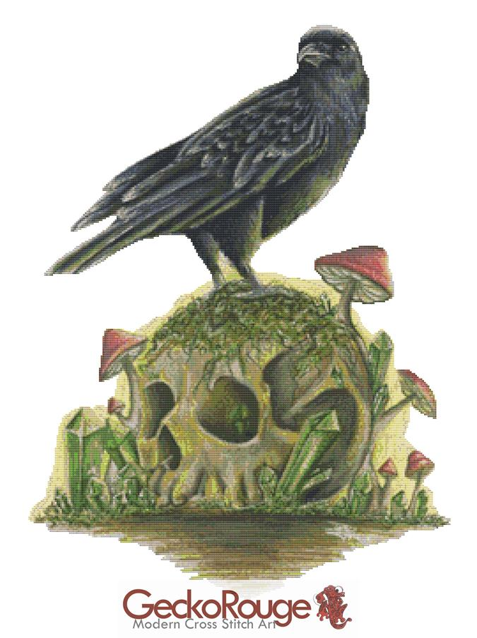 Bird and Skull By Dany Lizeth Cross Stitch Kit (DLBRDSKL)